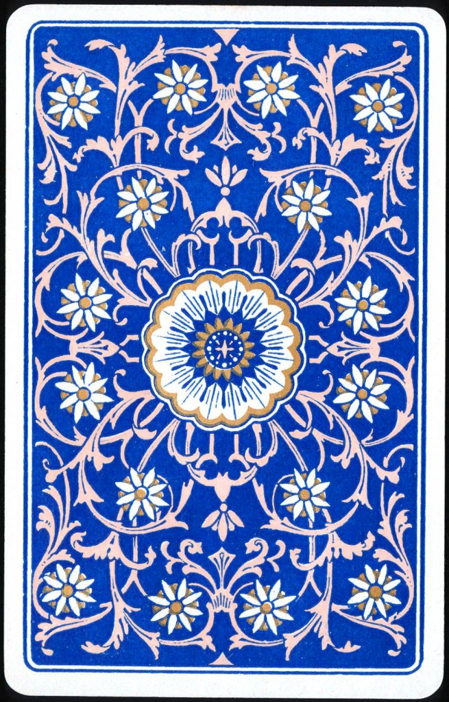 Design - Paper - Royal blue and flower