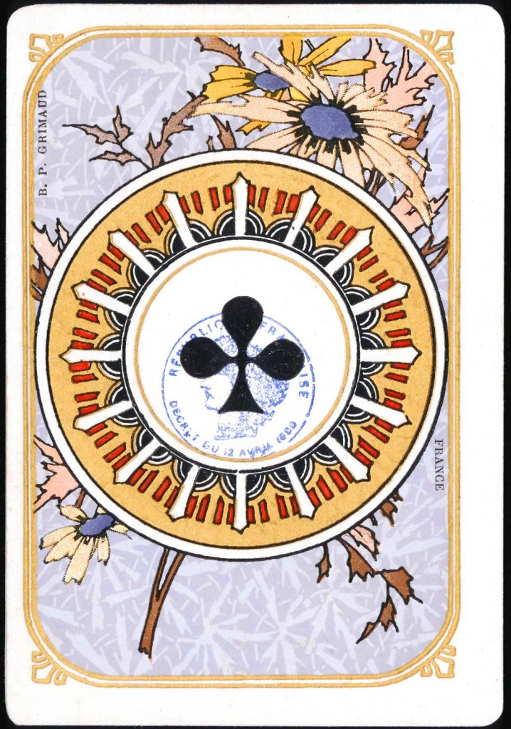 Entertainment - Playing card - Ace of Clubs - Art Nouveau