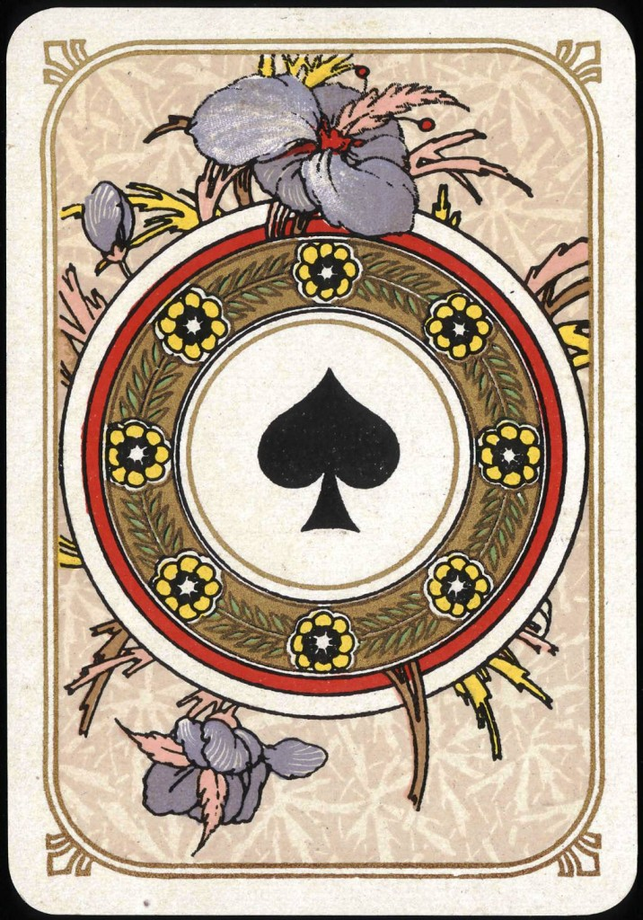 Entertainment - Playing card - Ace of Spades - Art Nouveau 2