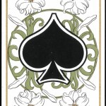 Entertainment - Playing card - Ace of Spades - Art Nouveau