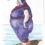 Entertainment - Playing card - Ace of Spades - Large woman at beach