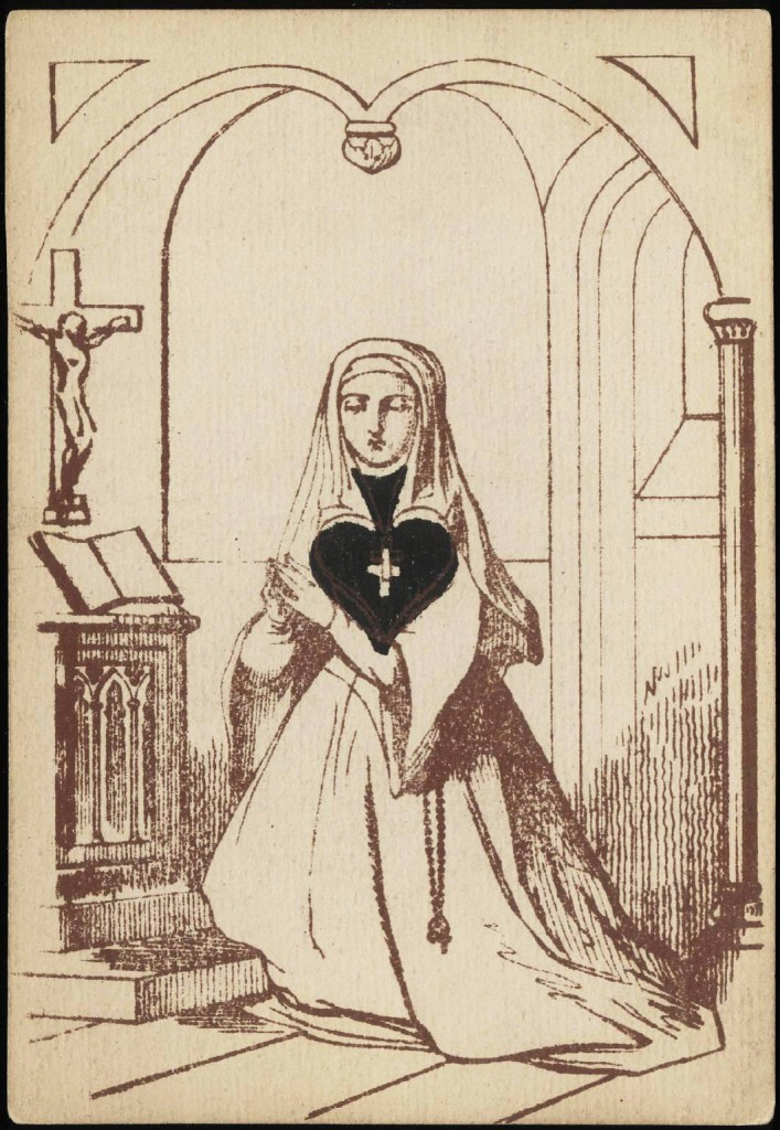 Entertainment - Playing card - Ace of Spades - Nun with spade as heart