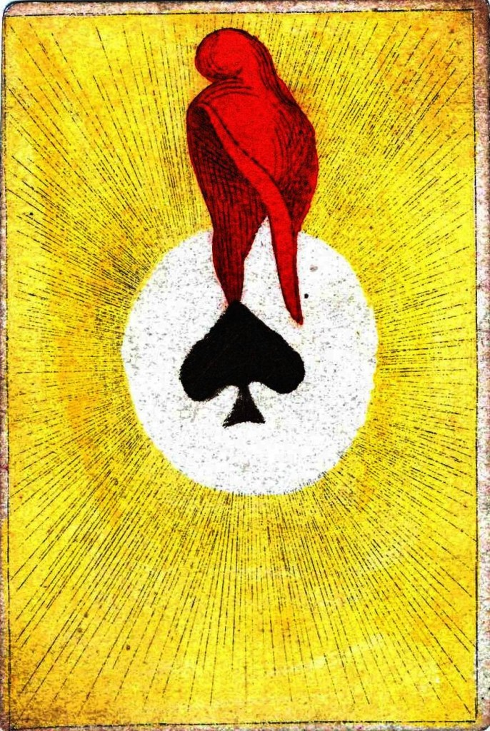 Entertainment - Playing card - Ace of Spades - Red hood