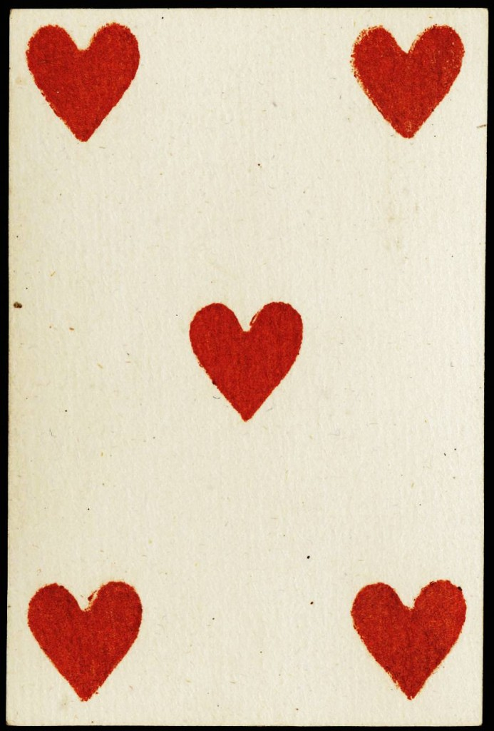 Entertainment - Playing card - Five of Hearts - French