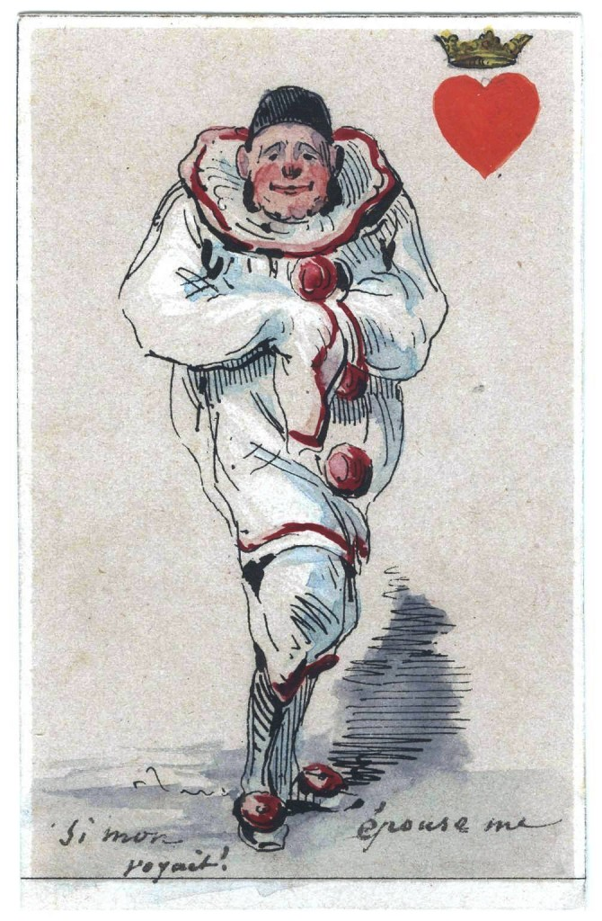 Entertainment - Playing card - King of Hearts - Clown
