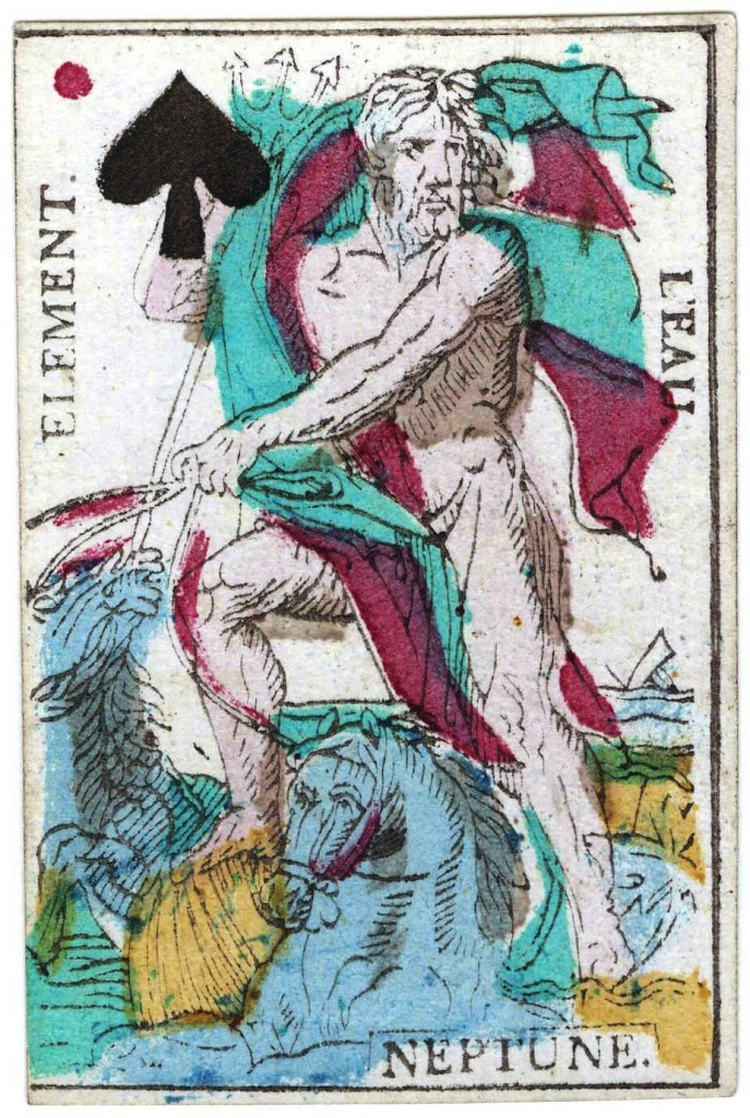 Entertainment - Playing card - Neptune and Element of Water - French