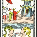 Entertainment - Playing card - Pagoda and mermen