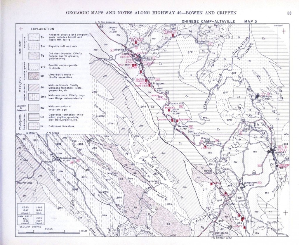 Map Of California Gold Country.Geopolitical Map Us Geologic California Gold Country 2