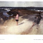 Seascape - British - Children on beach