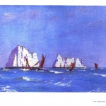 Seascape - British - Ships and icebergs