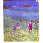 Seascape - British - Swimming in lake