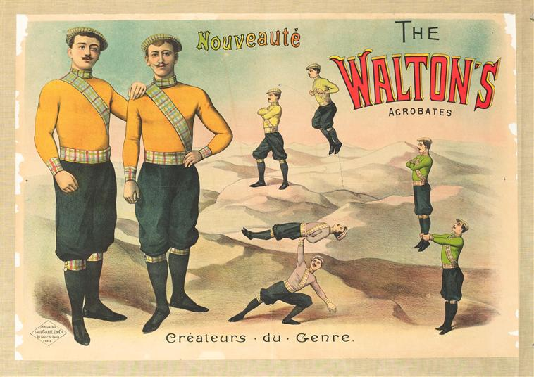Art - Advertisement - Circus - The Waltons, Acrobats