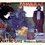 Art - Advertisement - French - Quatre gats Montesion Barcelona