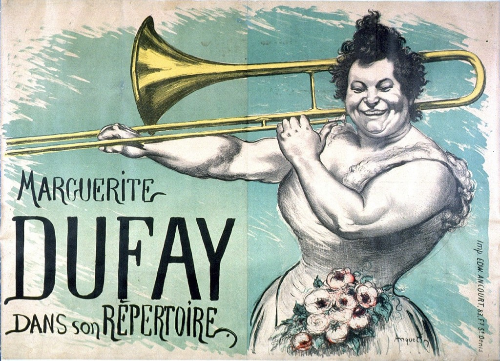 Art - Advertisement - French - Trombone player