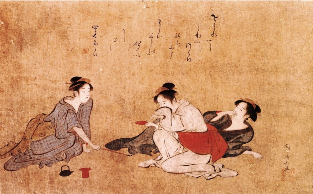 Art - Asian - Three drunken women