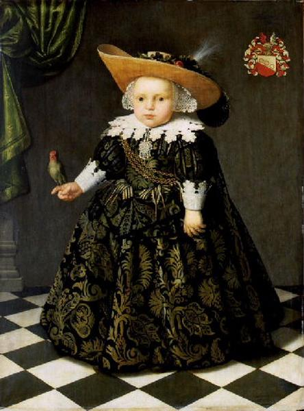 Portrait - Painting - Renaissance child with parrot
