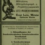 Printed matter - Ephemera - Advertisement - Leitz microscope, German