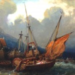 Seascape - Painting - Fishermen