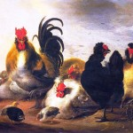Animal - Bird - Chickens - Painting
