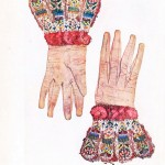 Design - Apparel - Glove with flowered cuff