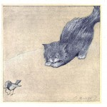 Juvenile - Illustration - Kitten watching bird 2