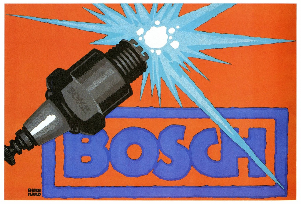 Art - Advertisement - Bosch Spark Plugs