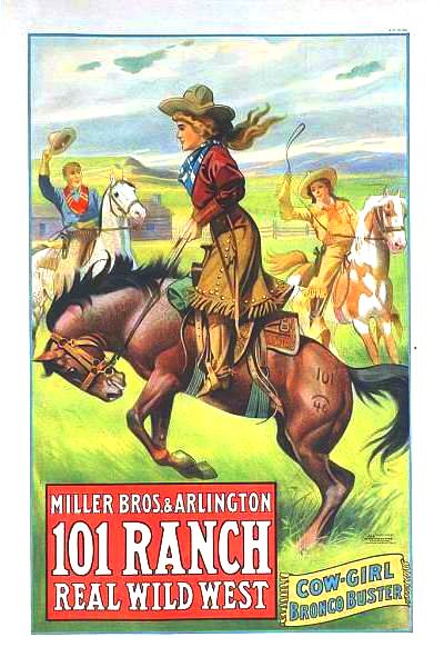Art - Advertisement - Cowgirl Bronco Buster