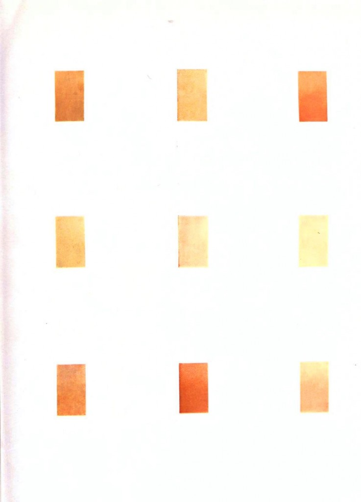 Color - Multi - Color chart, gradients yellow