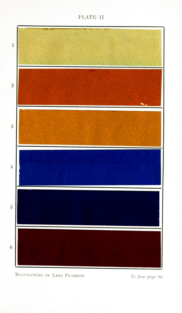 Color - Multi - Lake pigments - blue and brown