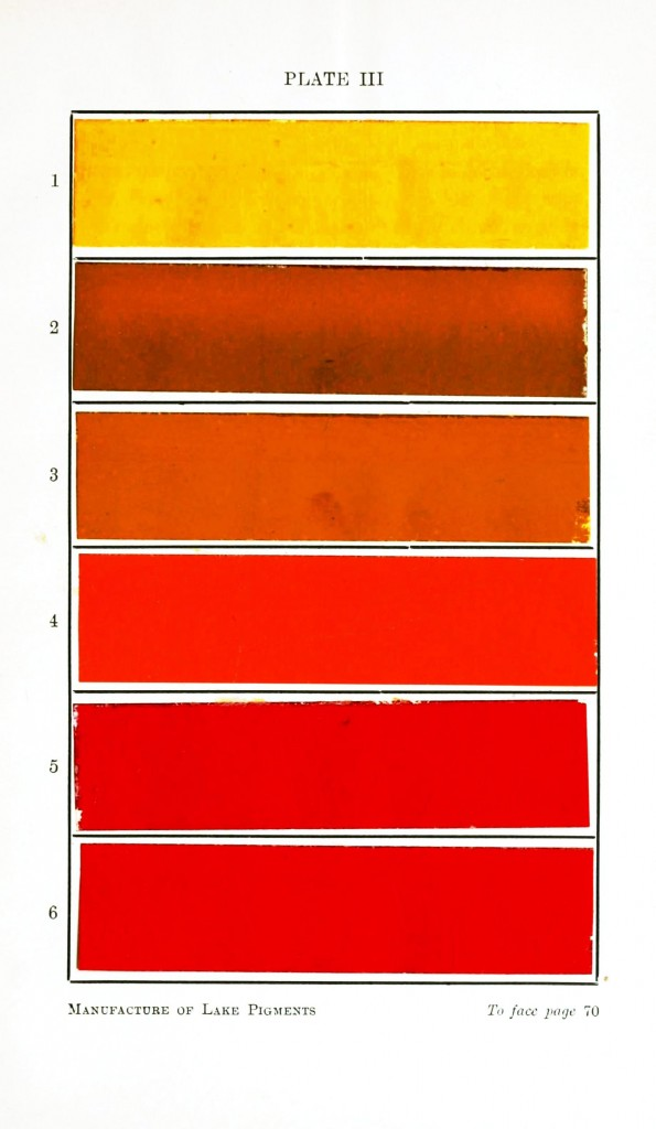 Color - Multi - Lake pigments - red and brown