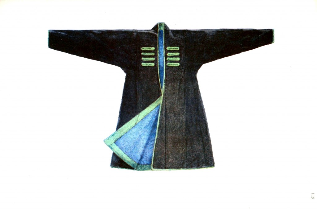 Design - Apparel - Asian - Black and green kimono