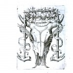 Emblem - Cow skull with vines