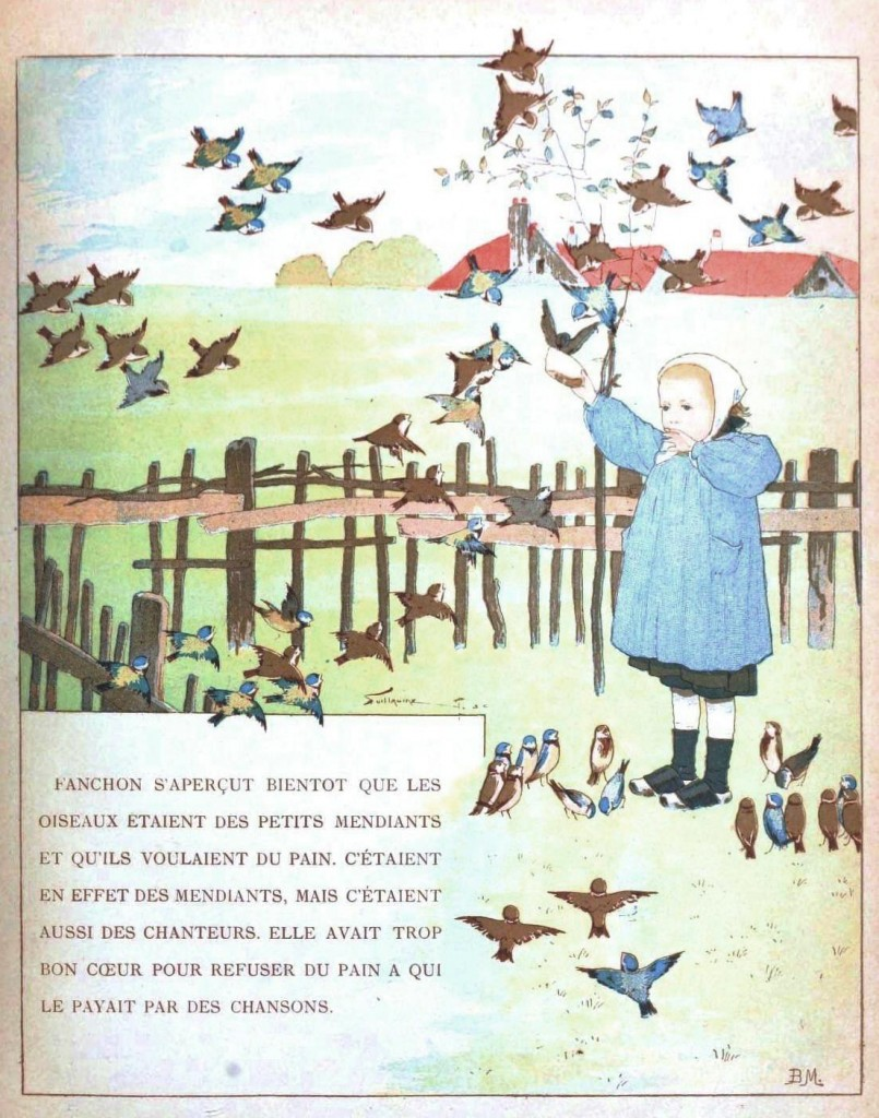 Juvenile - Illustration - Girl with birds