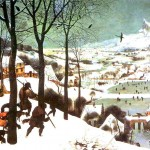 Landscape - Painting - Hunters in the Snow
