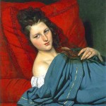 Portrait - Painting - Woman laying on a couch