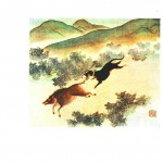 Animal - Dog - Dog chasing boar, Asian