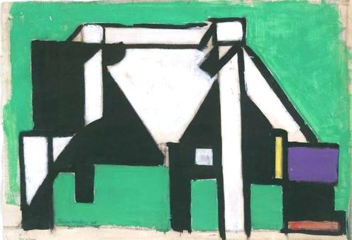 Animal - Range and Farm - Cow, cubist