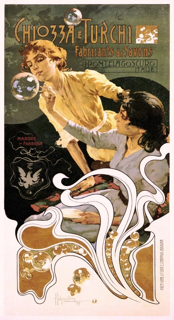 Art - Advertisement - Art Nouveau - Soap bubbles, Italian