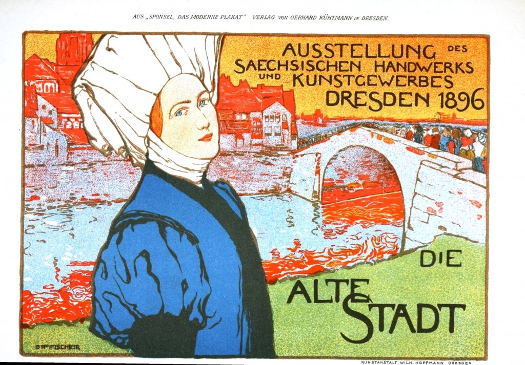 Art - Advertisement - Dresden art show 1896