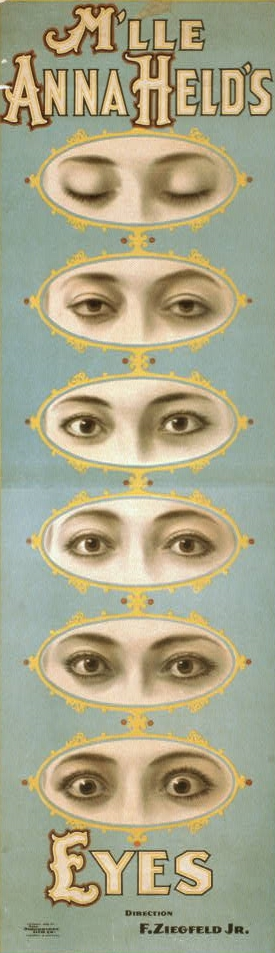 Art - Advertisement - Theater poster, Anna_Held's_Eyes