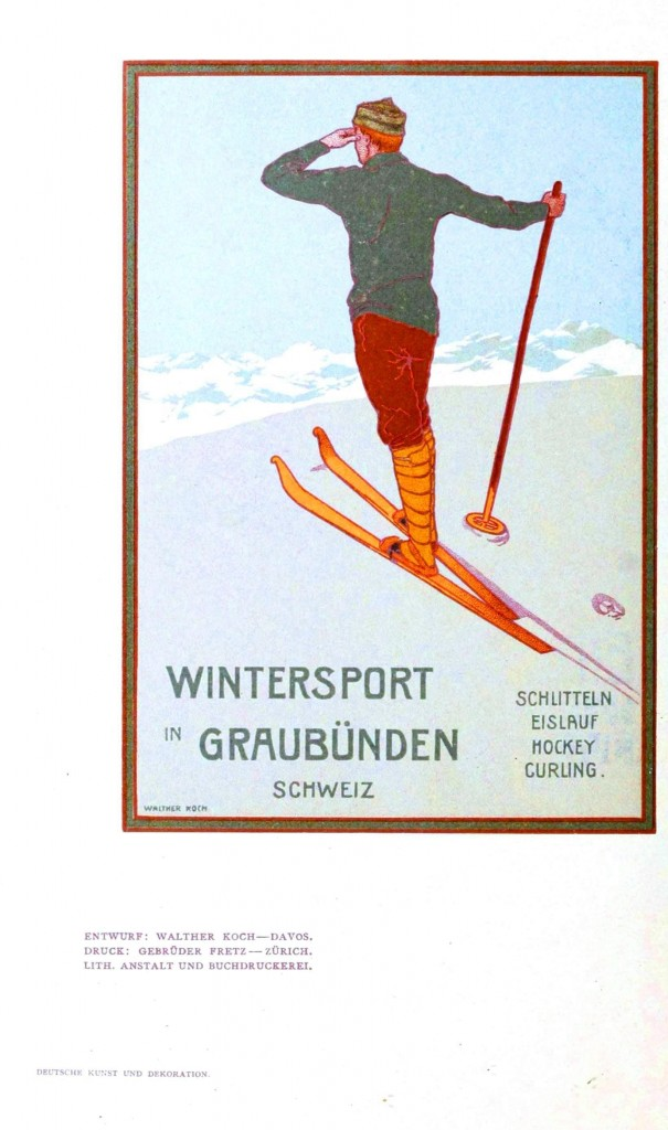 Art - Advertisement - Travel, skiing