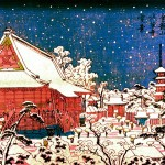 Art - Asian - Japanese Temple in Winter