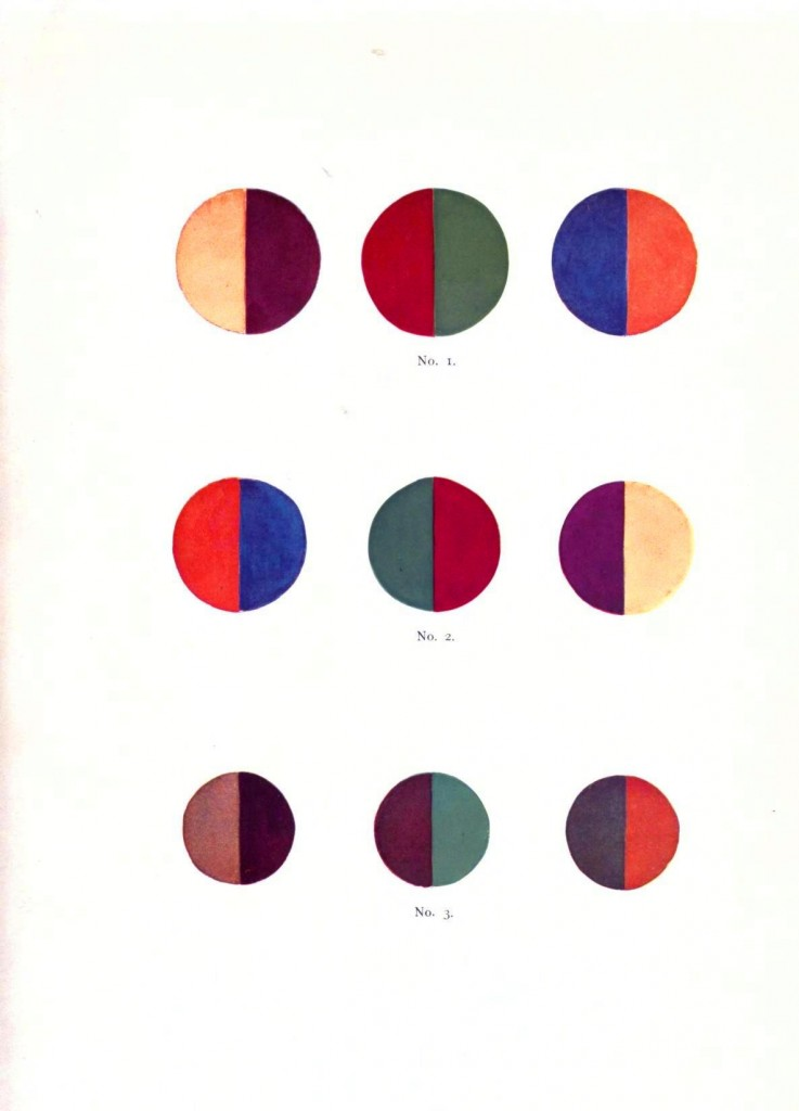 Color - Multi - Color chart, gradients opposites