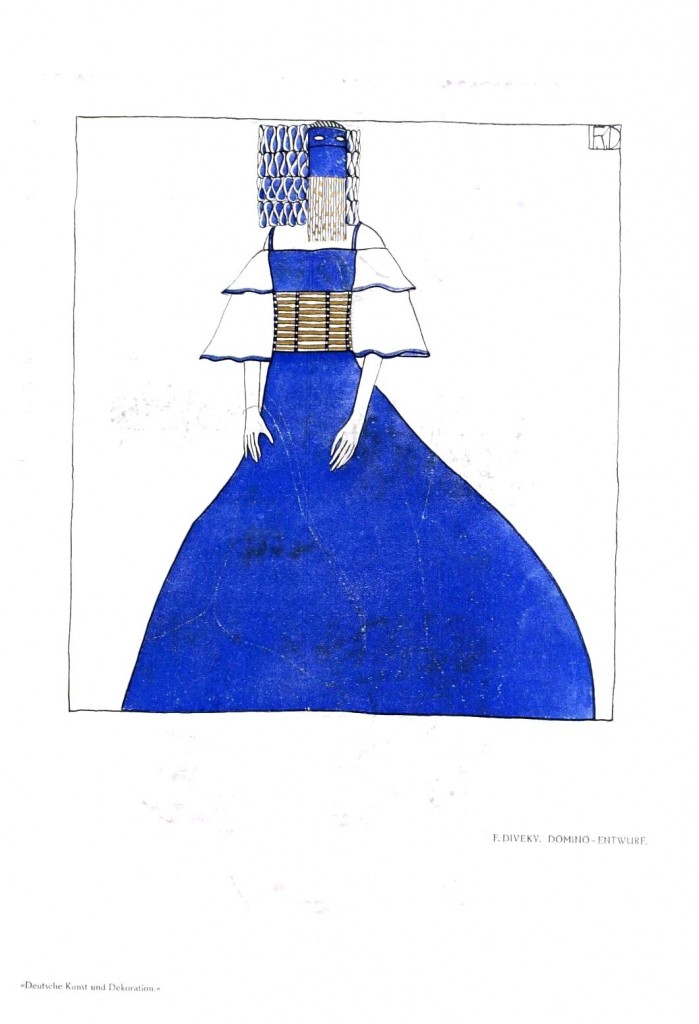 Design - Apparel - Dress with head attire, blue