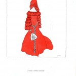 Design - Apparel - Dress with head attire, red