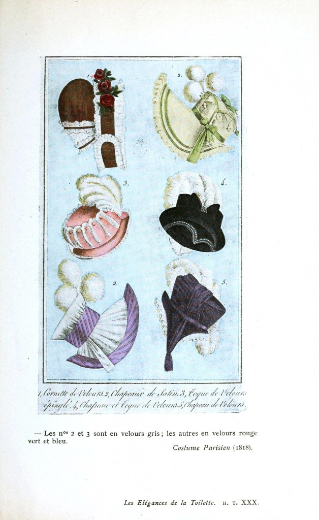 Design - Apparel - Hat, Costume Parisien 1818