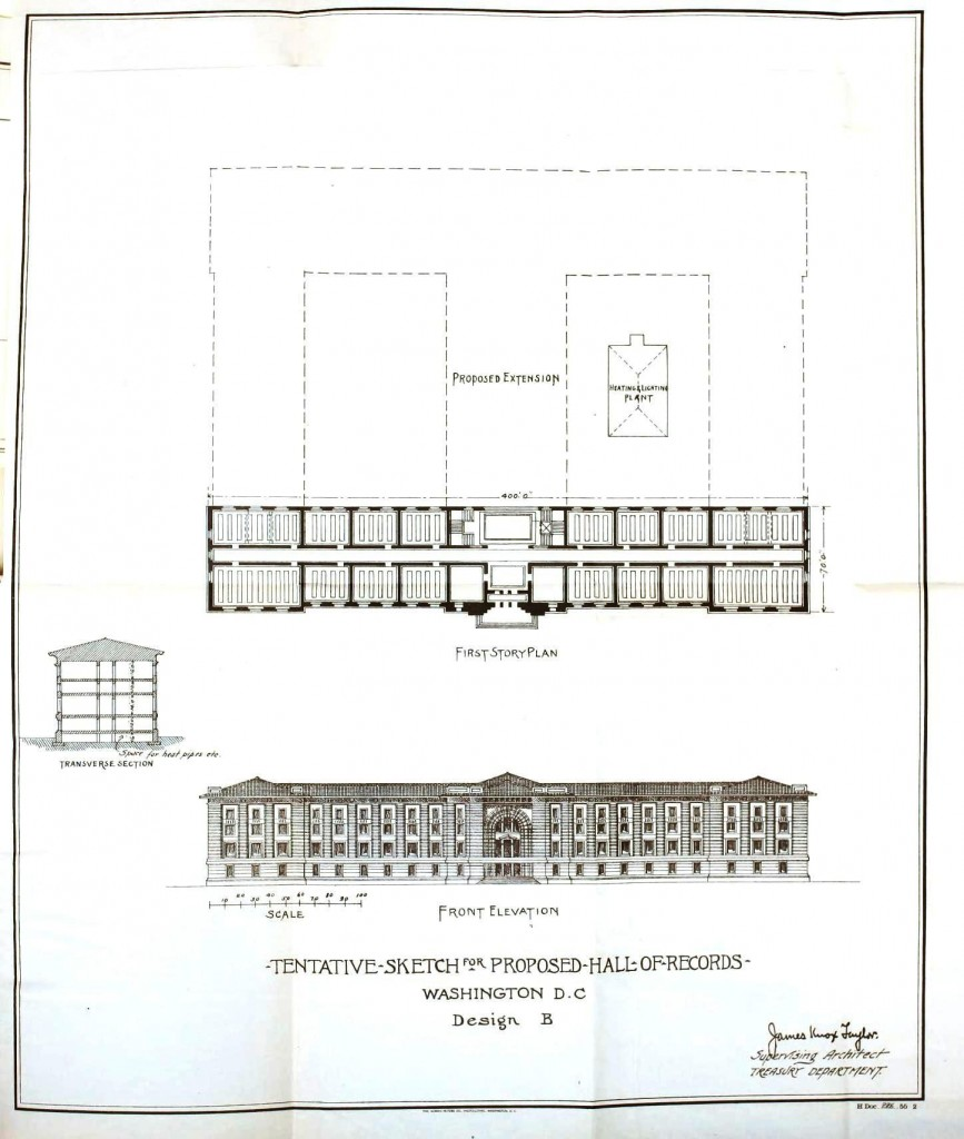 Design - Architectural - Proposed Hall of Records
