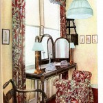 Design - Interior - Black chintz used in bedroom