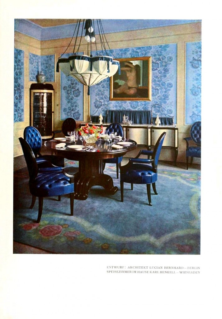 Design - Interior - Blue dining room - Design – Interior – Blue Dining Room Vintage Printable At