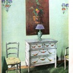Design - Interior - Furniture painted with chintz designs